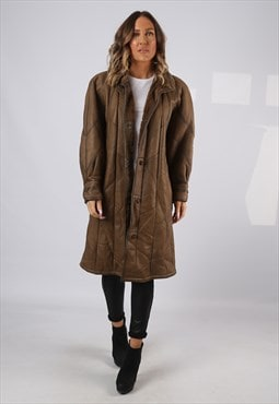Sheepskin Leather Shearling Coat UK 20 XXXL  (KJ2J)
