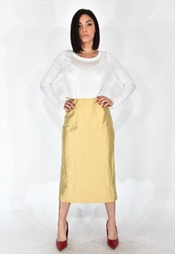 Luisa spagnoli long beige skirt