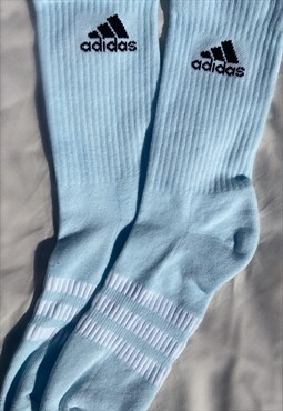 Pastel Blue Customised Adidas socks
