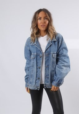 Denim Jacket Oversized Fitted ANVIL Vintage UK 16 - 18 (BG2G