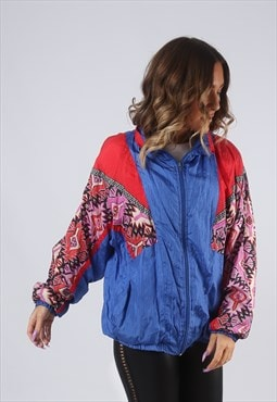 Shell Bomber Jacket Print Oversized Patterned UK 14 (KBD)