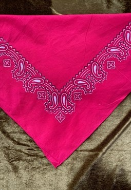 Vintage Cotton Red Bandana - Tia Maria