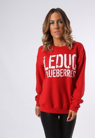 SWEATSHIRT JUMPER OVERSIZED BLUEBERRIES LOGO UK 14 (AD3K)