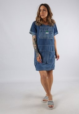 Vintage Denim Dress BICH REWORKED Dungarees UK 8 - 10 (9DDE)