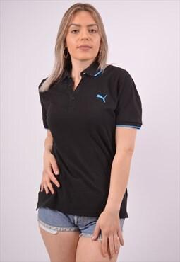 Vintage Puma Polo Shirt Black