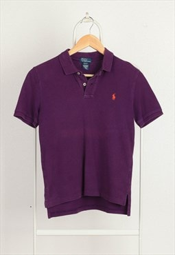 Vintage Polo Ralph Lauren Pony Logo Polo Shirt Purple