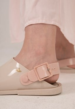 Vivienne Westwood Soft Rubber Light Beige n Pink Sandals