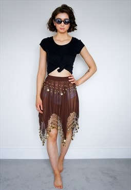 Brown beach skirt