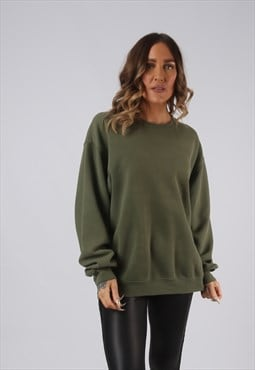 Sweatshirt Jumper Oversized Plain Coloured UK 16 18 (HW5R)
