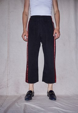 90s AW18 Side Taping Deadbody High Waisted Unisex Trousers