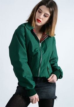 boyfriend fit Harrington jacket in green