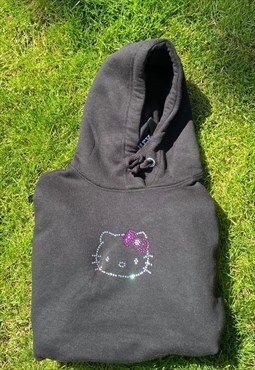 Y2K Style Rhinestone Hello Kitty Hoodie