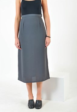 Vintage maxi skirt in grey