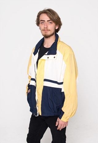 NAVY & YELLOW SAILING VINTAGE JACKET TRACKSUIT
