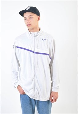 Vintage NIKE track jacket in white