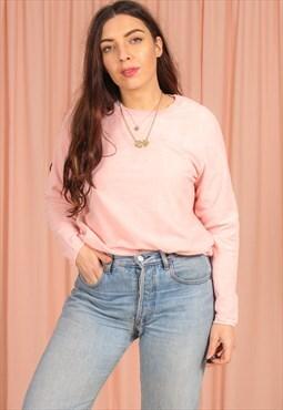 Vintage 90s Fleece Sweatshirt in Pink