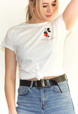 New White Minnie Mouse Disney T-Shirt