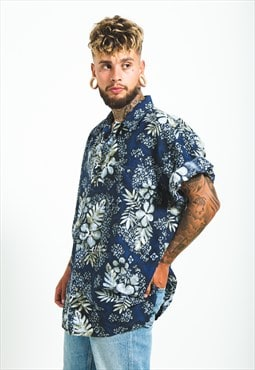 Vintage 80s Hawaiian Short Sleeve Shirt/ S6081