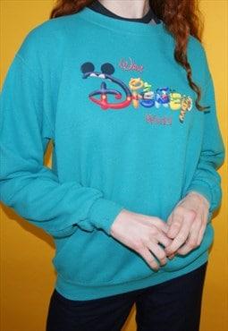 Vintage 90s Disney World Centre Logo Jumper / Sweatshirt