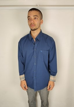 BURBERRY cotton shirt nova check on collar