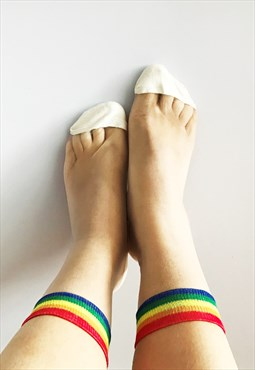 Rainbow sheer socks