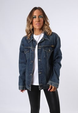 Denim Jacket ECANS JEANS Oversized Fitted UK 12  (E4CQ)
