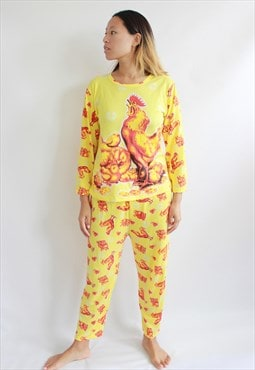 Yellow Rooster Co Ordinate Top and Trousers
