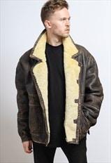 Vintage Suede Aviator Jacket