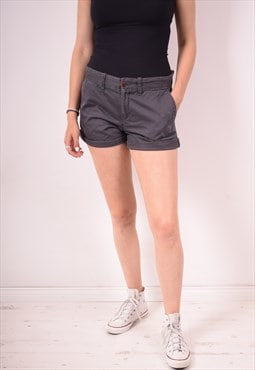 Tommy Hilfiger Womens Vintage Shorts W34 Grey 90s