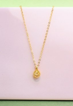 18k Gold Vermeil Happy Teardrop Necklace