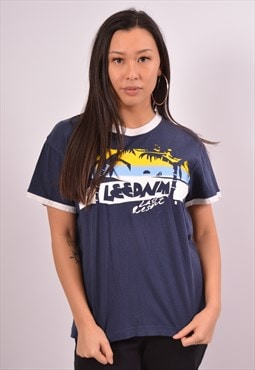Vintage Lee T-Shirt Top Navy Blue
