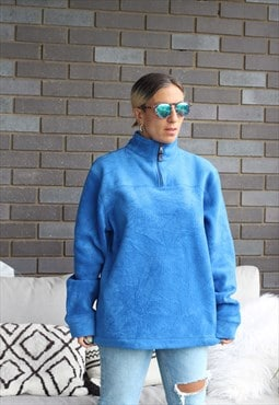 Vintage Y2K Gap electric blue quarter zip oversized fleece
