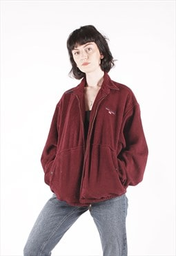 Vintage Polo Sport Ralph Lauren Maroon Fleece /MM2499