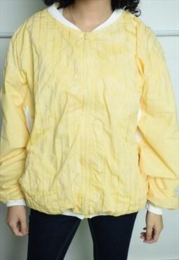 Vintage 80s retro shell oversized bomber jacket yellow