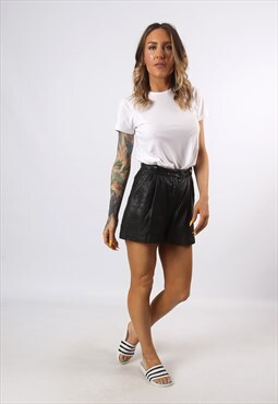 High Waisted Leather Shorts Bohemian UK 6 - 8 (H7CQ)