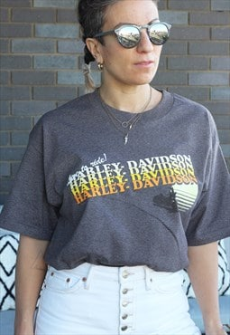 Vintage Y2K Harley Davidson Live to Ride mocha t shirt