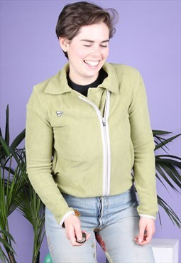 Vintage Fleece in Green with a Zip