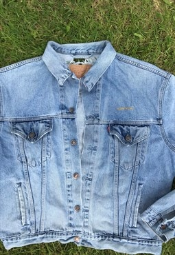Vintage Levi Sony Music Stonewash Denim Jacket