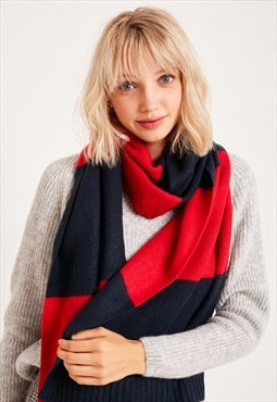 Subdued wide stripes scarf