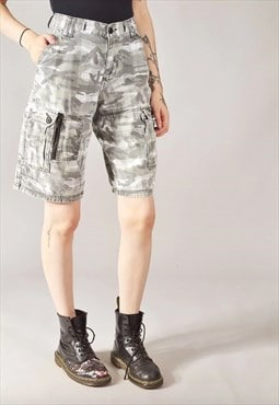 Vintage Lee Camo Cargo Shorts Grey