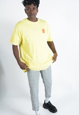 YIFY t-shirt in yellow with wavey back print.
