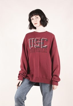 Vintage USA Maroon University Sweatshirt /MM2403