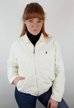 Vintage Ralph Lauren harrington jacket waterproof white mens