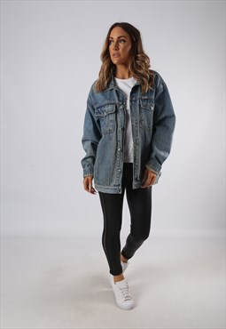 Vintage Denim Jacket Oversized Fitted UK 16 XL (JQ4A)