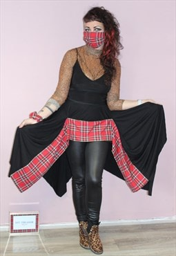 Pretty Distubria Tartan Tiered Skirt Festival Punk Grunge