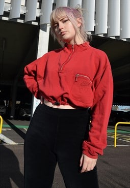 Vintage Nike Reworked Cropped Toggle Sweatshirt