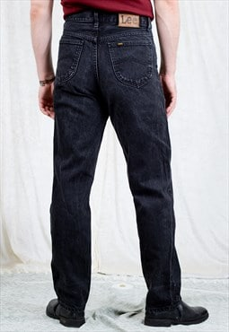 Lee Riders jeans W32 L33 black straight leg 90s vintage M/L