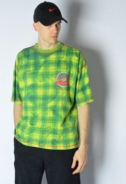 Vintage 80s Green Check T-Shirt