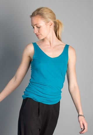 ARUGAM ECO-FRIENDLY V-NECK TOP WITH DEEP SCOOPED BACK