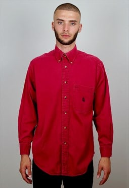Vintage 90s Nautica Workwear Shirt Red